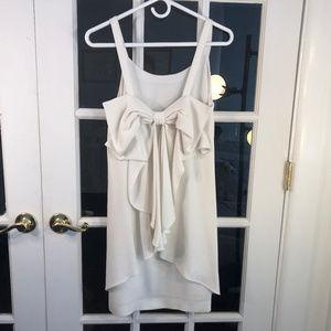 Club Monaco Davie Bow Dress, White